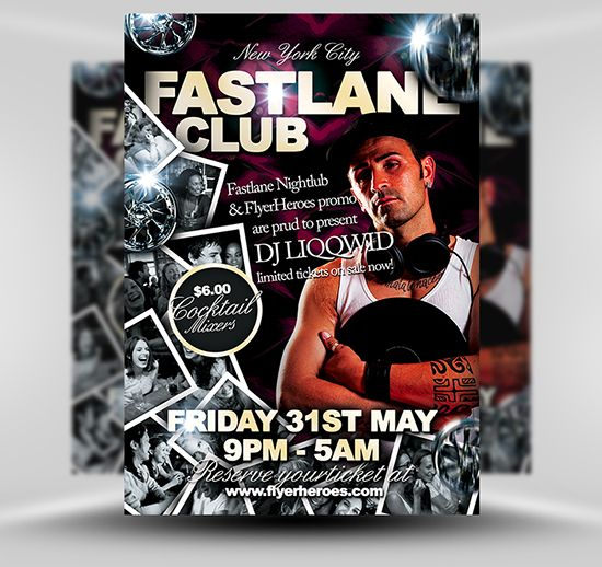 Fastlane Flyer Template #PSD #Photoshop #Flyer #Template