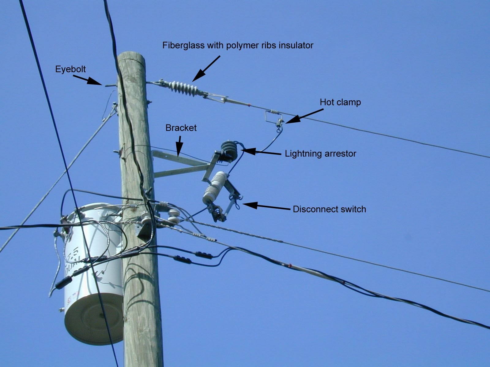 Power pole noise hardware | Electric Hookups | Electrical