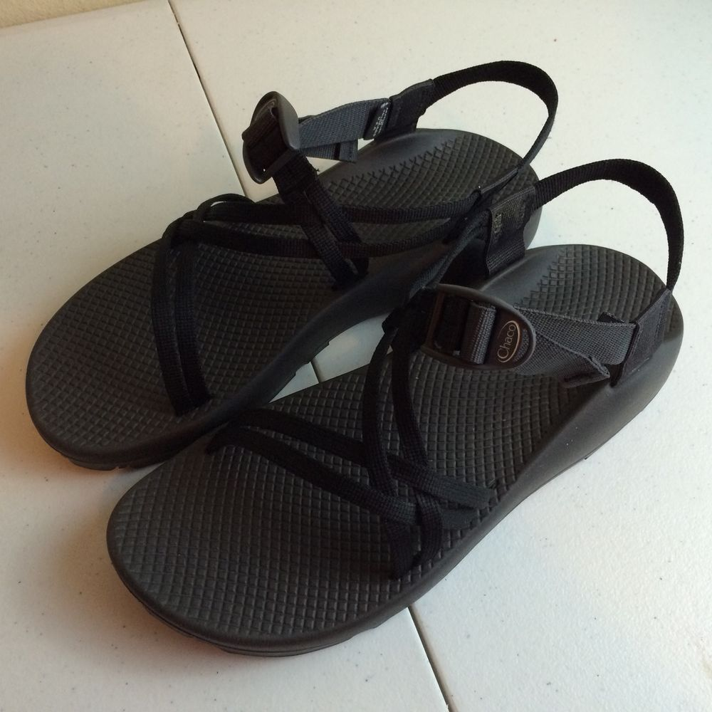 Black sandals size 11 - Chaco Women S Zx1 Yampa Casual Vibram Sport Double Strap Black Sandals Size 11 Chaco