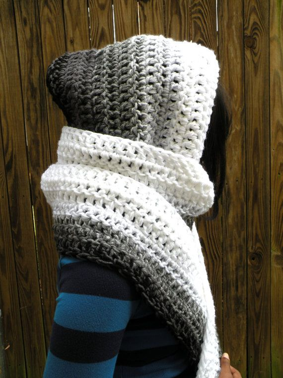 Schoodie Hooded Scarf Crochet Pattern Non Pointy Womens