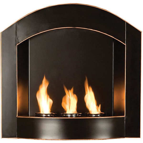 Wildon Home Arch Wall Mounted Gel Fuel Fireplace Found On Polyvore