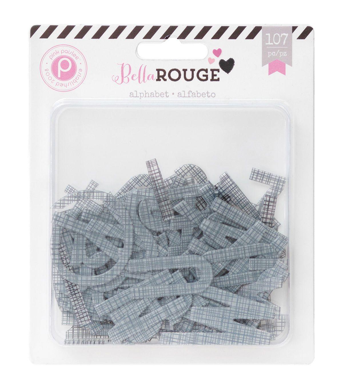 Bella Rouge Printed Transparent Alphabet 107/Pkg-Transparent