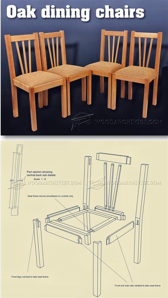 Oak Dining Chair Plans Furniture Plans And Projects