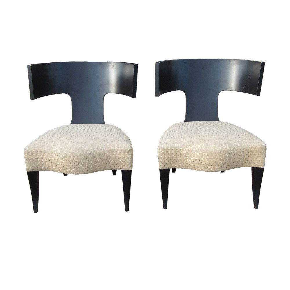 Pair Of Klismos Dining Chairs Made By Donghia 2