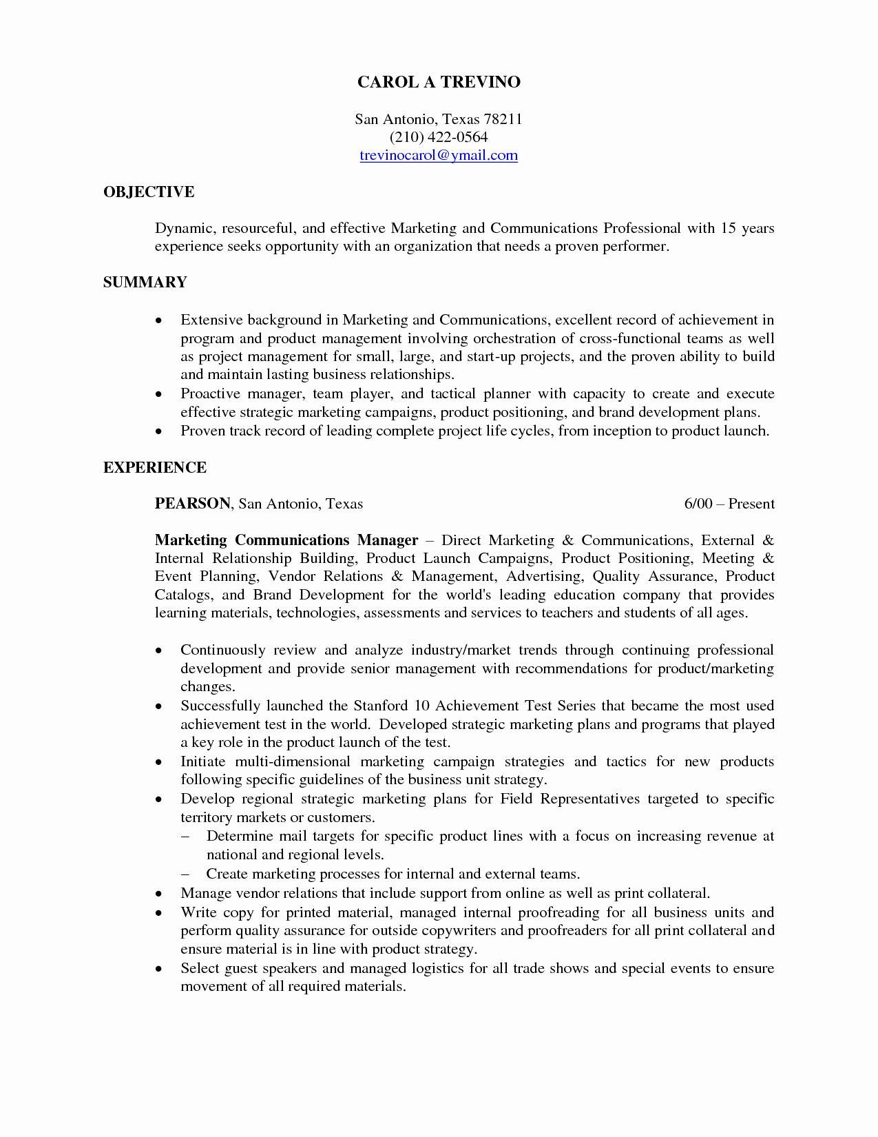 27 Objective for Internship Resume in 2020 Internship