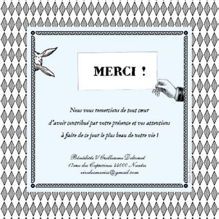 Carte De Remerciement De Mariage Wedding Thank Yo Wedding
