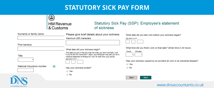 An Employee Can Claim For Statutory Sick Pay Ssp Using Form Ssp1