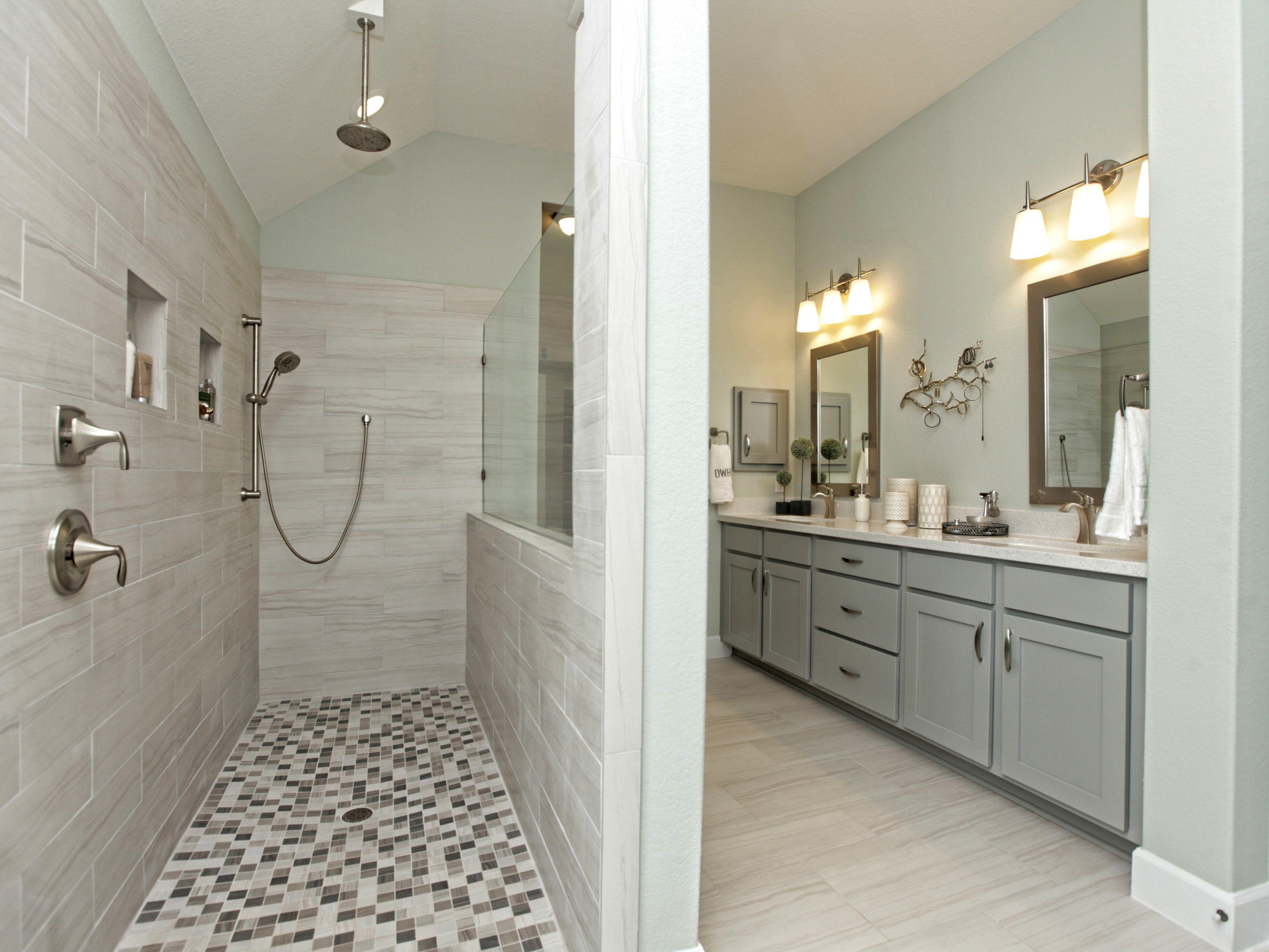 Master Bedroom Bathroom At The David Weekley Model Look At That Walk In Shower Bathroom Remodel Master Dream Bathroom Master Baths Bathroom Layout