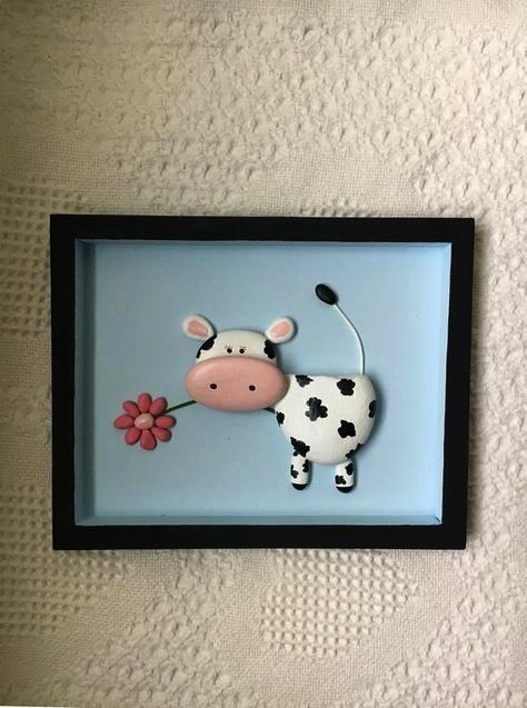 decor cow art cow pebble art framed nursery decor kids room wall art baby shower gift office wall decor cow lover unique gift  Cow decor cow art cow pebble art framed nur...