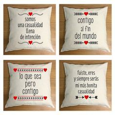 Cojines Acción Poética Un Detalle Para San Valentín
