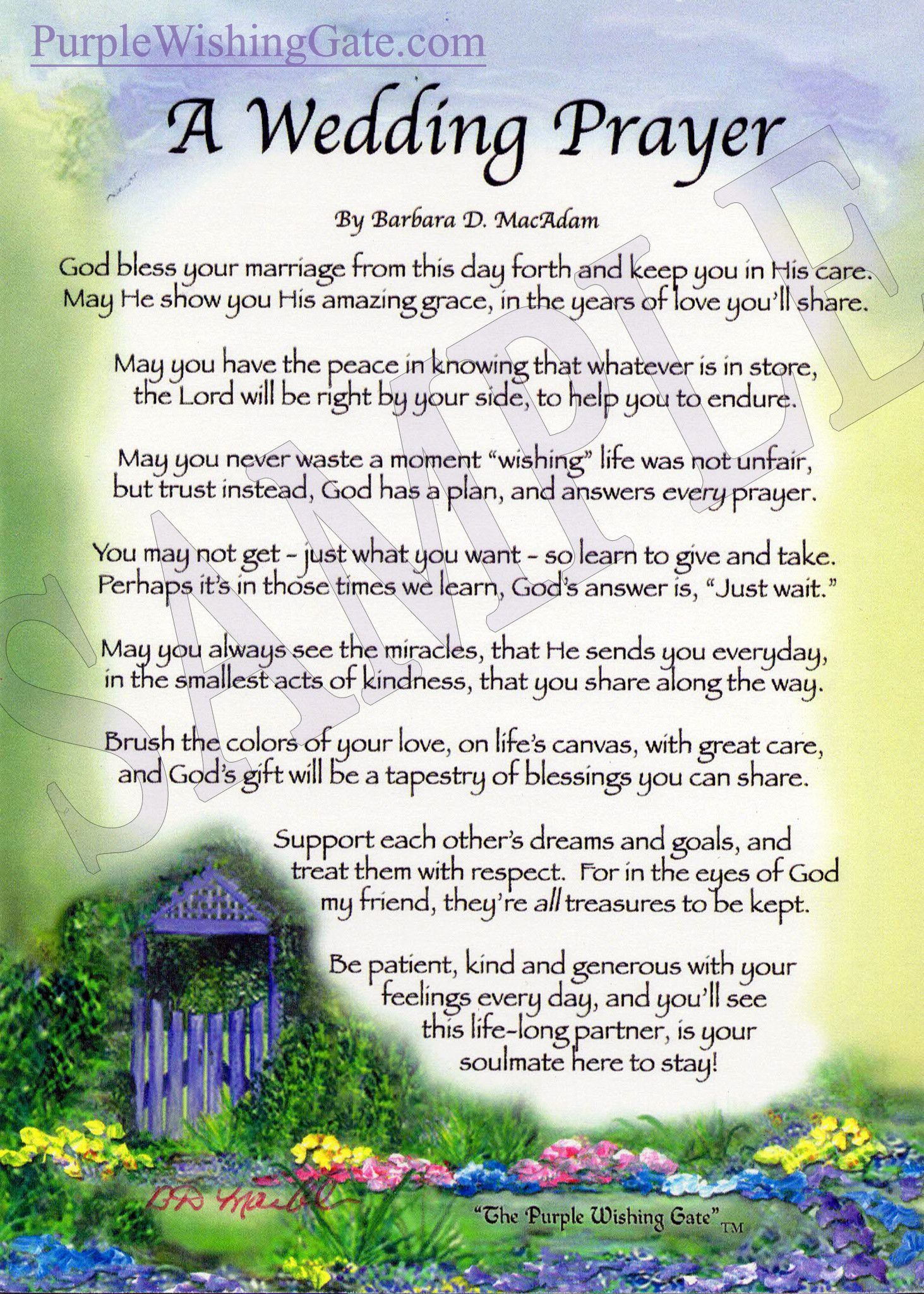 A Wedding Prayer 5x7 Prayer Prayers Prayer For Mothers