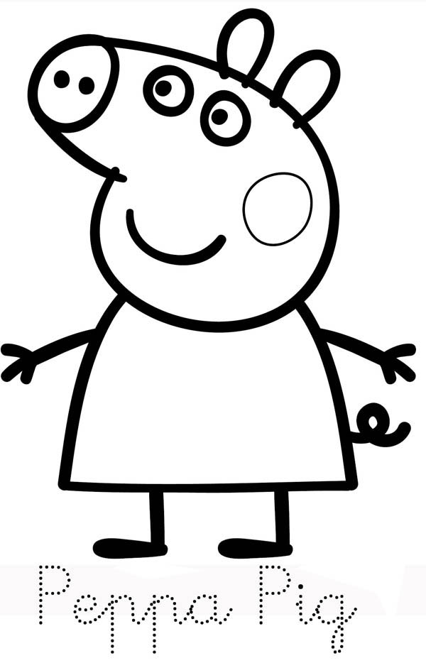 Picture Of Peppa Pig Coloring Page Coloring Sky Peppa Pig Colouring Peppa Pig Coloring Pages Peppa Pig Drawing