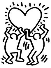 Coloring Pages Keith Haring Drawing | keith haring | Keith haring