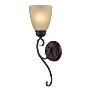 Titan Lighting 1 Light Oiled Rubbed Bronze Wall Sconce Tn 50030 At The Home Depot 58 Sconce Lighting Bronze Sconces Wall Mounted Light