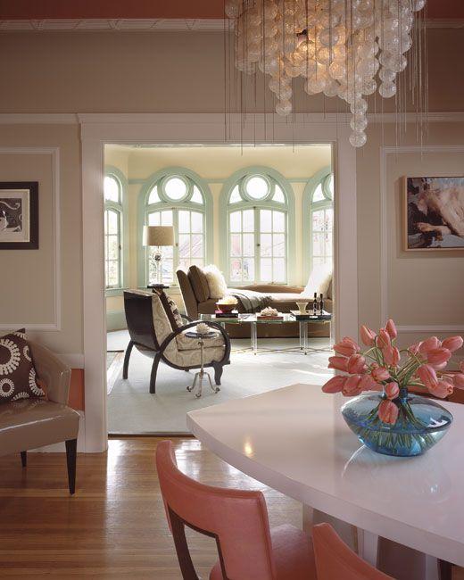Best Coral Peach Tiffany Blue Aqua Turquiose Interior Design 400 x 300