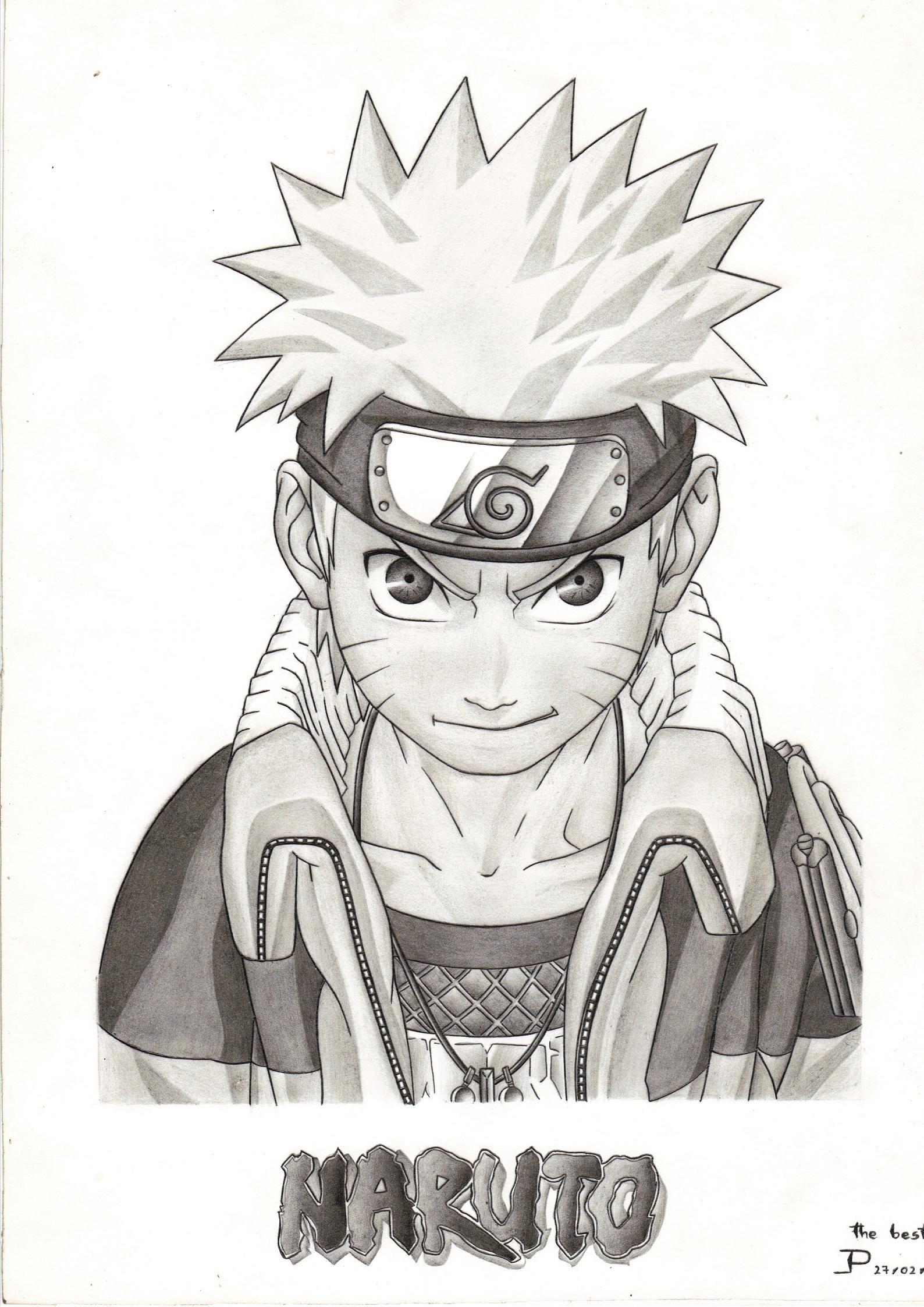 Naruto Naruto Naruto Dibujos Dibujos Y Dibujos A Lápiz