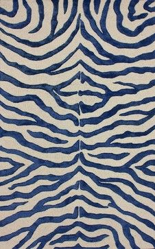 Animal Inspirations Earth Rectangle Royal Blue Area Rug Contemporary Rugs Rugpal Blue Zebra Rug Zebra Print Rug Zebra Rug