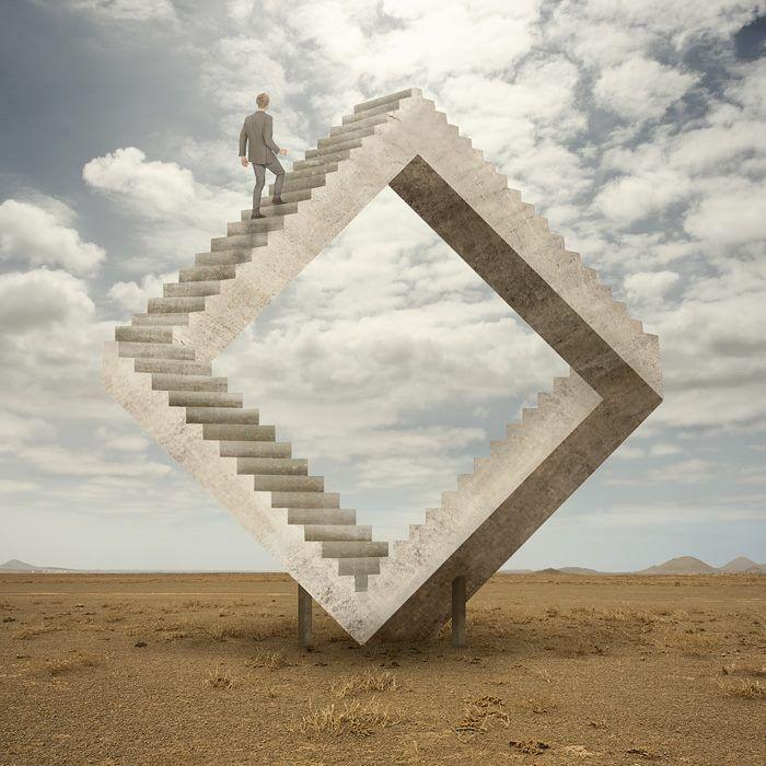 Pin By Eve Andra On Sculpture Escher Art Surreal Art Illusion Art