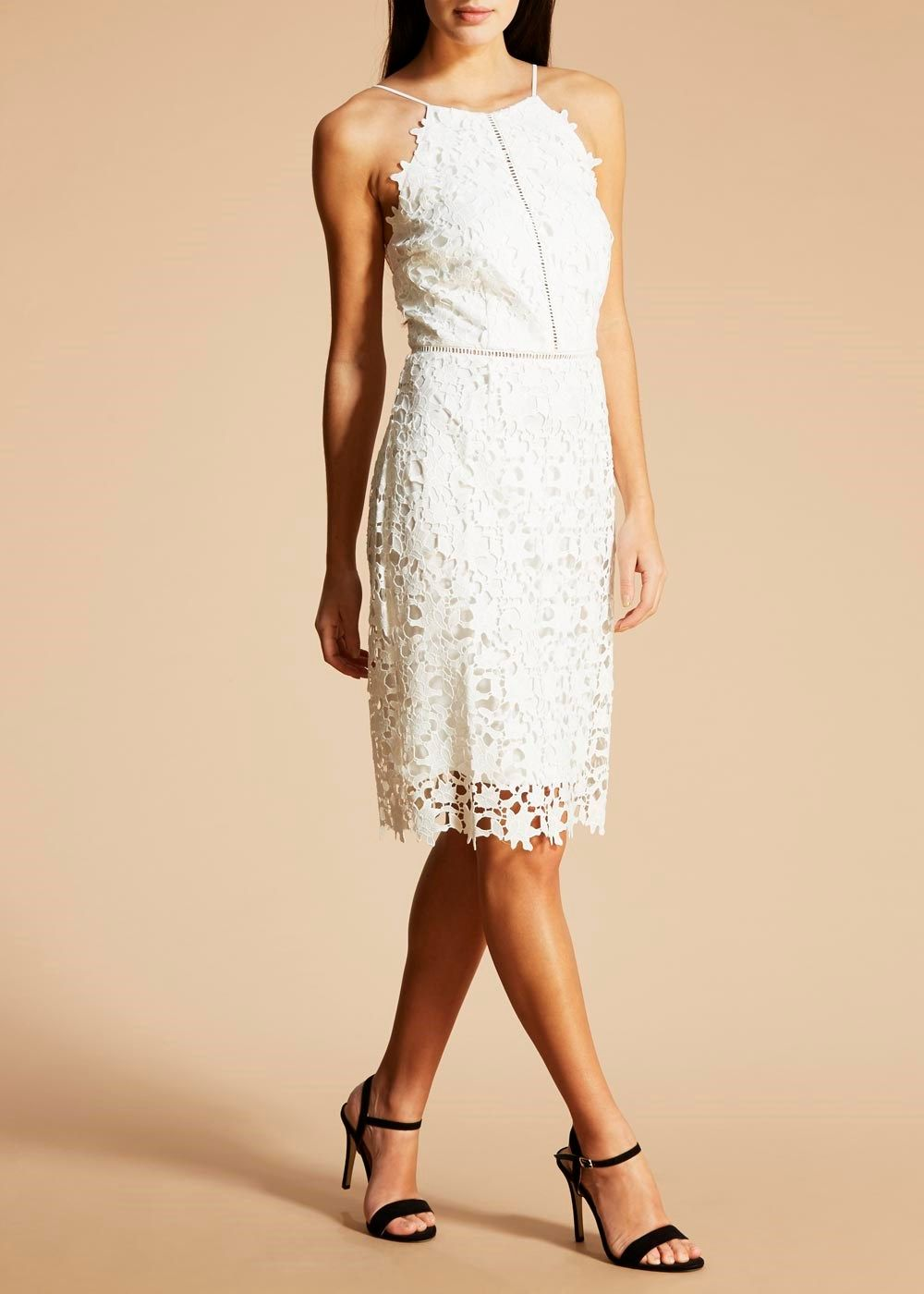 FWM Lace Halterneck Dress – Matalan | Pinterest | Occasion wear ...