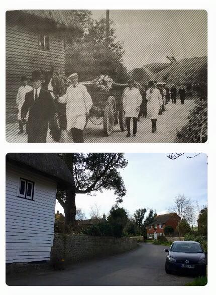 Last smock funeral 1937 and now
