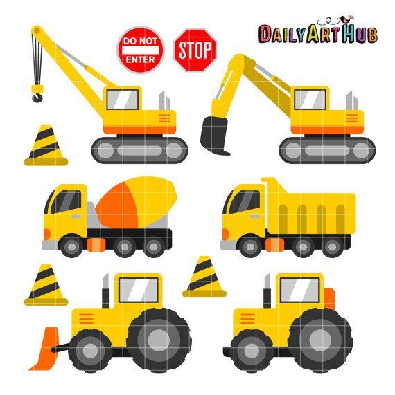 Construcción vehículos Clip Art Clipart de equipo por DailyArtHub ...