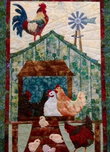McKenna-Ryan-Rooster-Chickens-Quilt-Pattern-Home-to-Roost-Block ... : rooster quilt pattern - Adamdwight.com