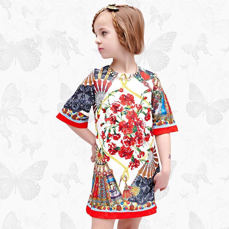 Girls Dress with Handmade Dragonfly 2017 Brand Princess Dress Long Sleeve Robe Fille Clothes Kids Dresses8 #Affiliate