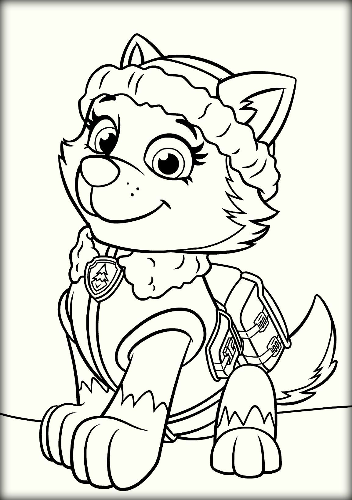 Paw patrol everest coloring pages