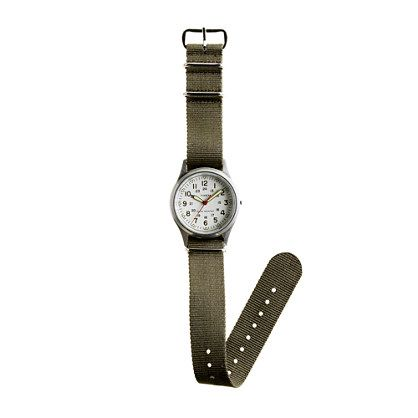 Love this classic watch by Timex for J. Crew!  Timex® vintage field army watch