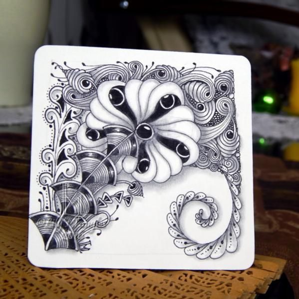 zentangle lilymoon lilystangles doodle shading abstract floral draw