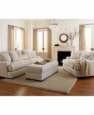Ainsley Fabric Sofa Living Room Collection Only At Macy S