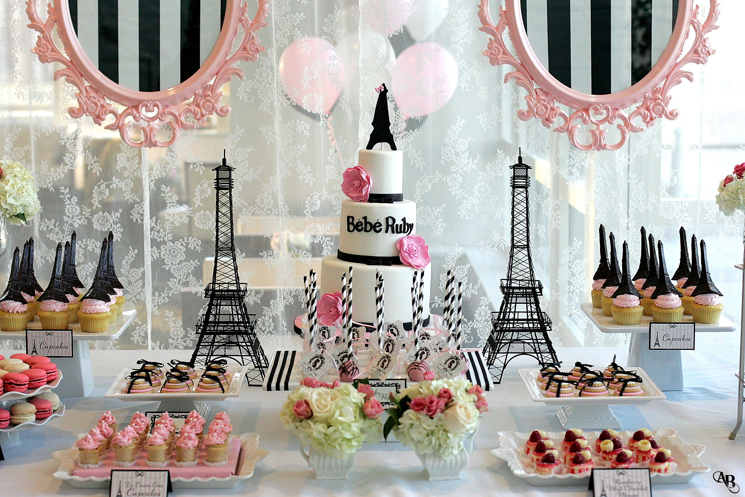 Paris Theme Babyshower Ideas Baby shower Pinterest