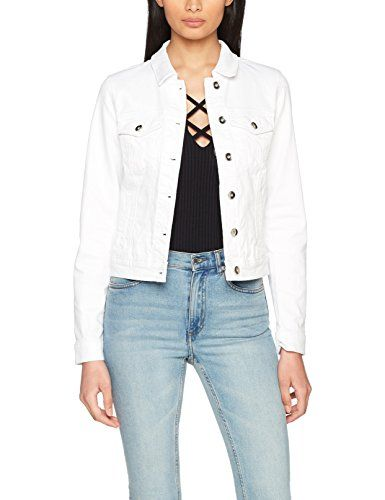 Vero Moda Vmhot Soya Ls Denim Jacket Mix Noos Blouson Femme Blanc (Bright  White Bright White) 42 (Taille Fabricant  X-Large) 9a993d1d7eb5