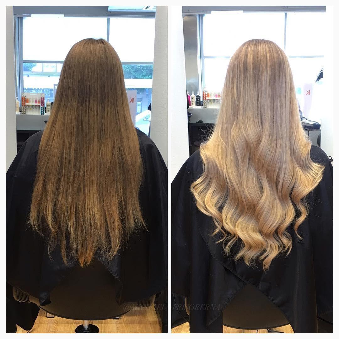 avfärgning blont hår