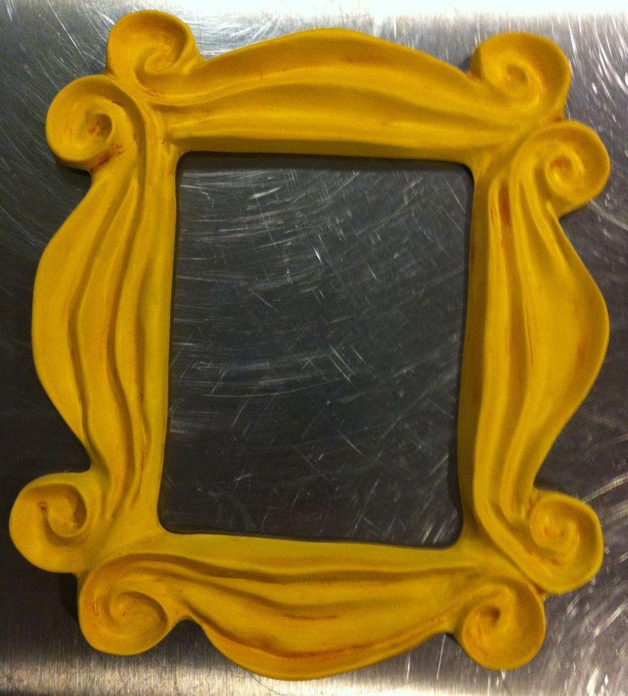 FRIENDS tv show YELLOW PICTURE FRAME gold purple door prop ...