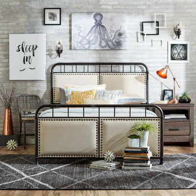 Mercury Row Queen Upholstered Panel Bed Mobilier De Salon Queen Maison