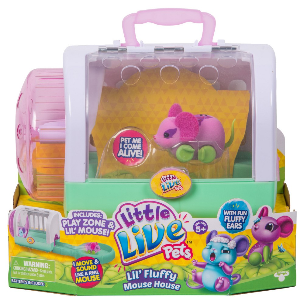 Little Live Pets Lil Fluffy Mouse House Flitter Mouse With