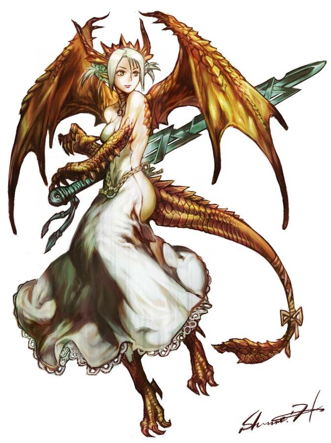 Character Reference Half Dragon Girl Unknownartist