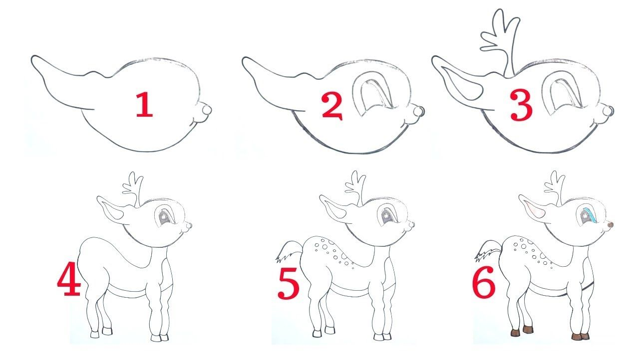 How to Draw a Baby Deer Step by Step Easy