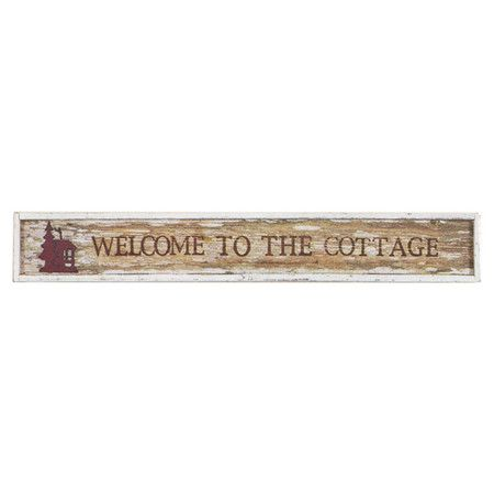 Evoke cozy bungalows and vacation retreats with this weathered reclaimed wood wall decor, featuring a text motif and cabin accent.   ...