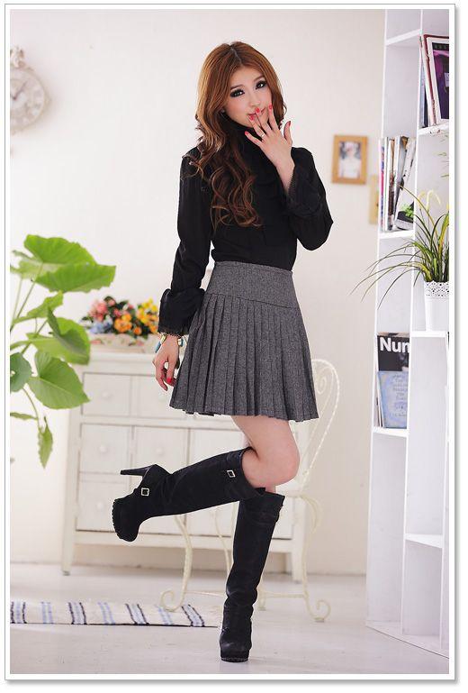 Korean Fashion Style Wholesale Skirts D3387 Black