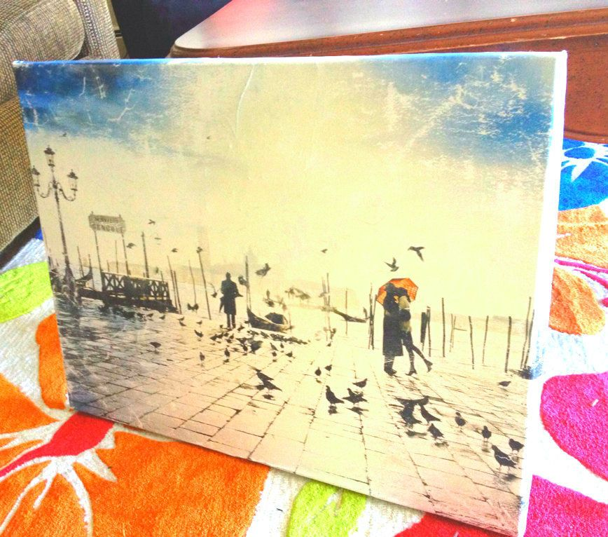 Turn a Poster Into Canvas Art | Canvases, Easy and Craft
