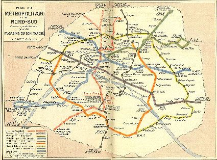 Old Paris metro map Parisian Inspiration Pinterest