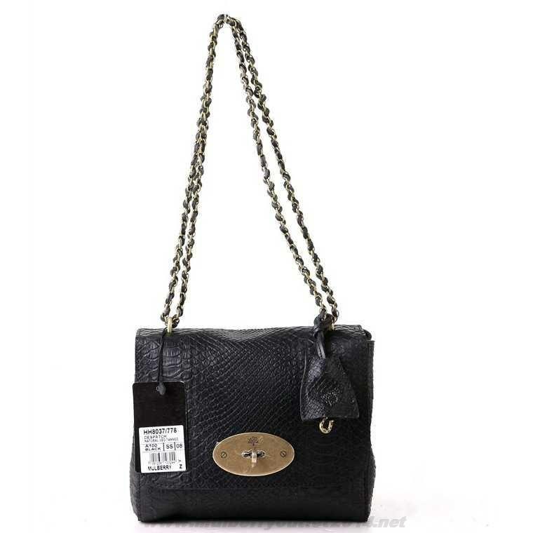 f40a89372c ... wholesale authentic womens mulberry lily snake print shoulder bag black  outlet sale 968d7 683e5