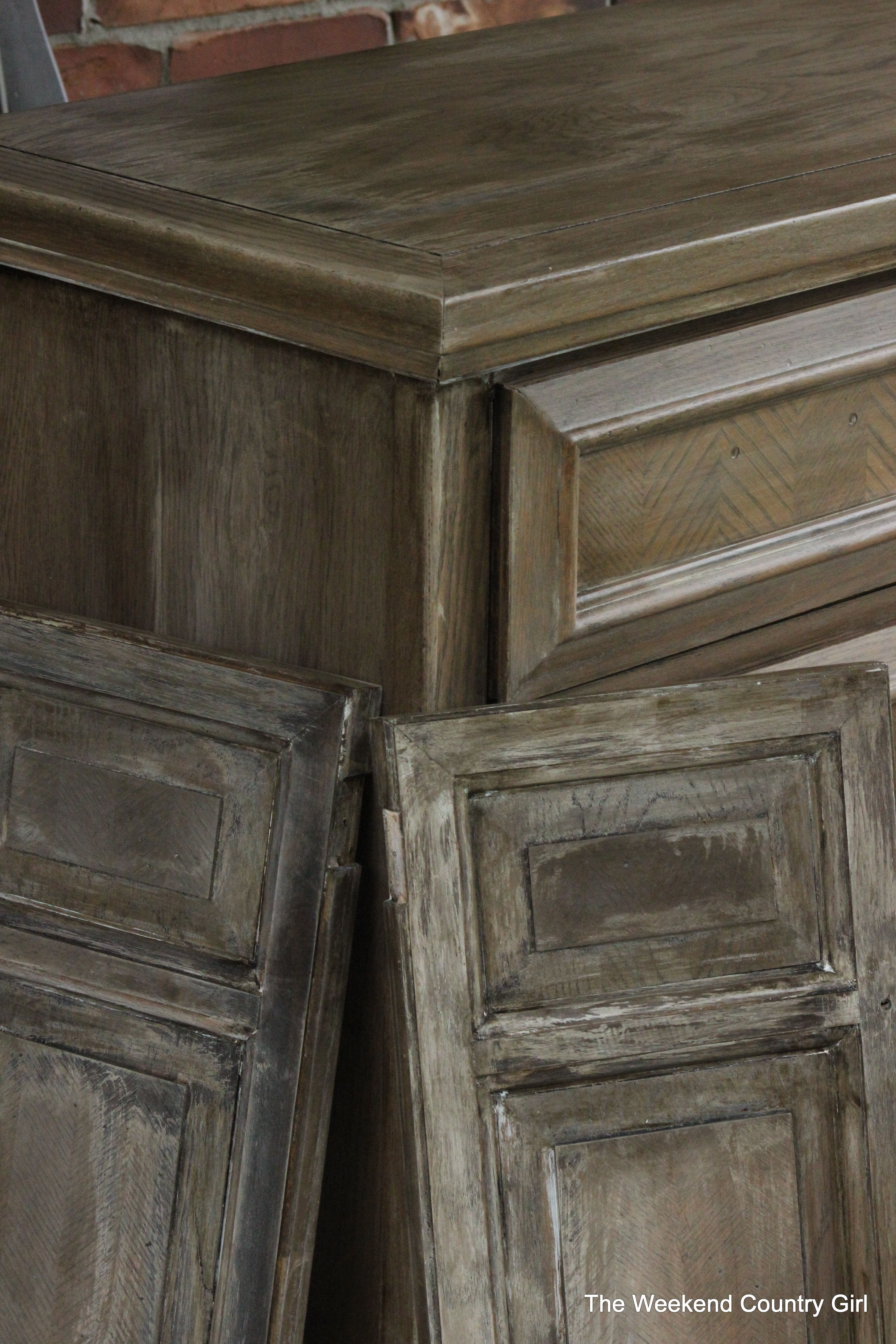 weathered wood stain tutorail for a rustic look by the. Black Bedroom Furniture Sets. Home Design Ideas