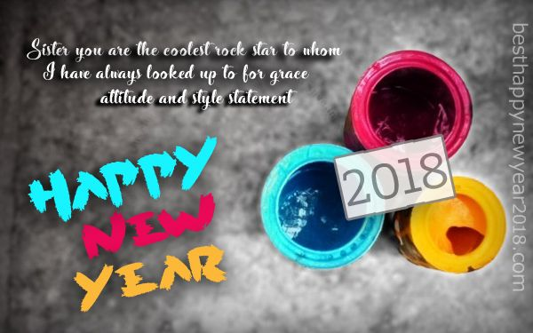 New Year 2018 Quotes For Sister