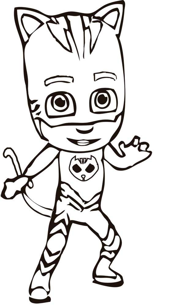 Superior PJ Show Coloring Pages Masks