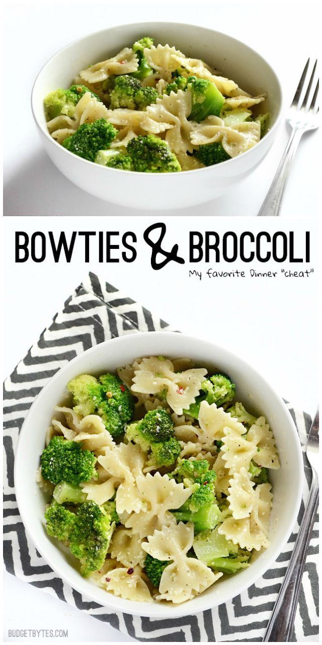 Bowties and Broccoli - Budget Bytes #easyrecipes