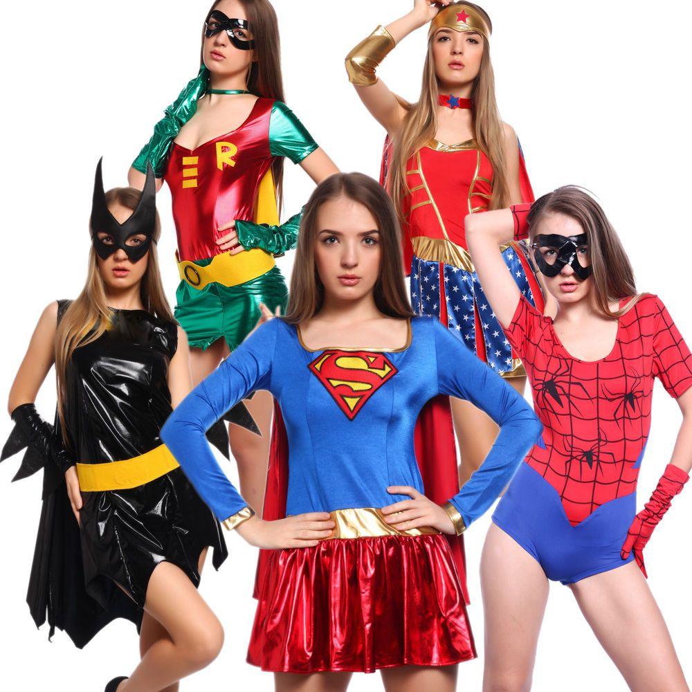 Sexy Supergirl Robin Spider Wonder Bat Woman Comic Con Carnival ...