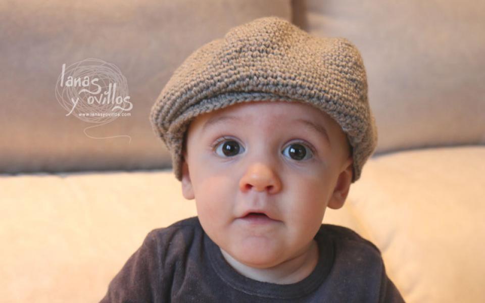 Crochet patrón gorro bebé boina gratis con video tutorial | Español ...